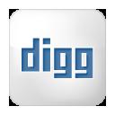 Box, Digg, Social, White icon