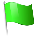 Flag, Green icon
