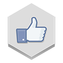 like, facebook icon
