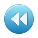 blue, rew, button icon