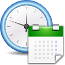 date, time, calendar icon