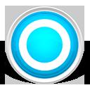 circle, round, blue icon