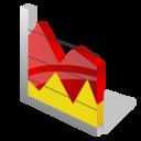 chart, area icon
