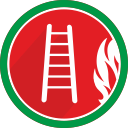 flame, stairs, fire, burn, ladder icon