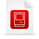 document, red, file, paper icon