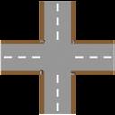 crossroad,plain icon
