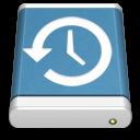 blue, backup, external, drive icon