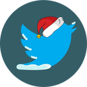 twitter, christmas, snow, social icon