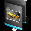Pictures Folder Black icon