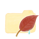 Ak, Folder, Leaf, Vanilla icon