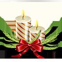 christmas, candles icon