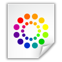 file, colors, color wheel icon