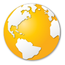 globe, internet, earth, yellow, planet, world icon