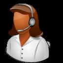 Occupations Technical Support Representative Female Dark icon