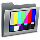 folder, tv, television icon