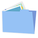 Alt, Blue, Folder, Pictures icon