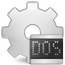 ms, application, dos, executable icon