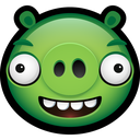 angry birds, piggy, animal, animals, minion, pig icon