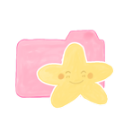 ak, happy, starry, folder, candy icon