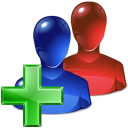 group, plus, add icon