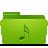 green, folder, music icon