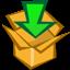 download, down, box, arrow icon