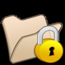 folder,beige,locked icon