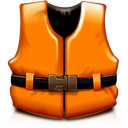 life vest, help, rescue, support, orange icon