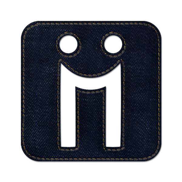 social, diigo, logo, jean, denim, square icon