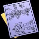 paper, file, blueprint, document icon