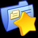 Folder Blue Favourites icon
