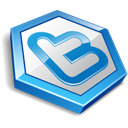 Blue, Shape, Twitter icon