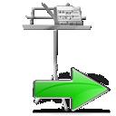 right, next, my document, ok, forward, yes, arrow, correct icon