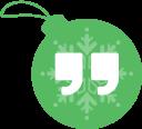 ball, hangout, google, christmas icon