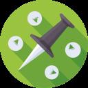 pointer, marker, pin, navigation icon