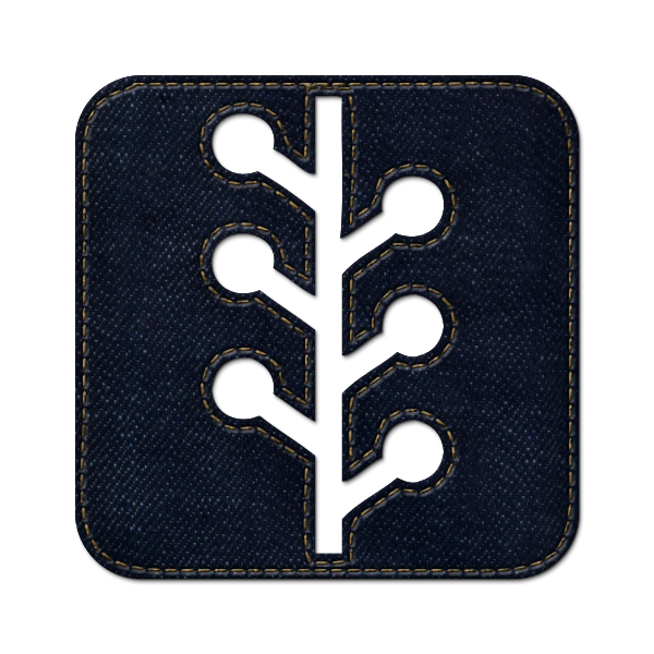 Social Denim Logo Newswire Square Jean Icon