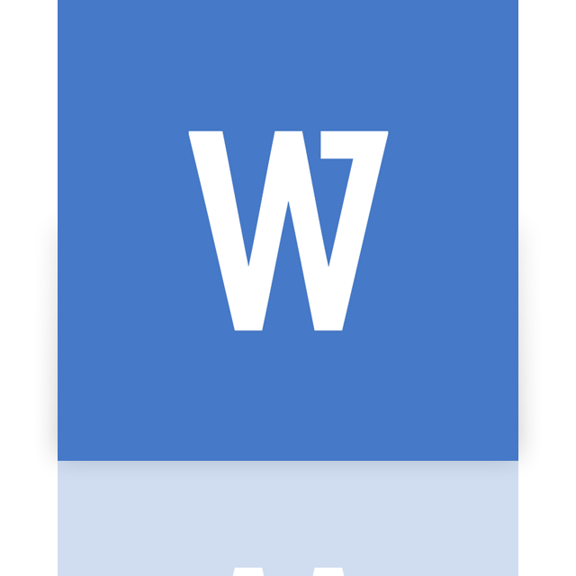 mirror, word, doc, google icon