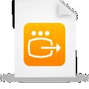 paper, document, file, orange icon