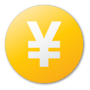 coin, currency, yellow, cash, money, yuan icon