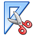 measure, design, scissors, triangle, ruler icon