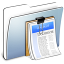 folder, smooth, graphite, documents icon
