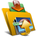 folder, bootskin, descending, decrease, fall, down, descend, download icon