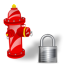 Fire, Lock, Plug icon