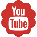 round, youtube, media, flower, social icon
