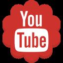 round, youtube, media, flower, social icon