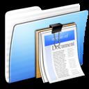 aqua,stripped,folder icon