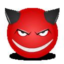 Devil smile icon