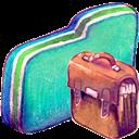Bag, Folder, Green icon