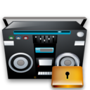 locked, lock, recoder, tape, security icon