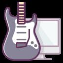 computer, audio, electronics, monitor, music, sound, guitar icon